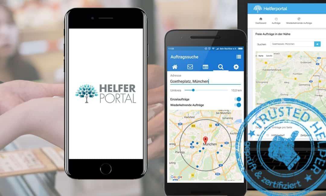 Digitale Helfervermittlung per App